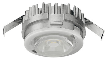 Modular Puck Light, Monochrome, Häfele Loox5 LED 2090, aluminum, 12 V