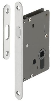 Mortise Locks, Round, Backset A= 50 mm (1 31/32)