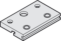 Mounting Plate, for Single Running Track