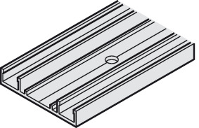 Mounting Profile, for Single Lower Running Track, Recessed, 51 x 10 (2 x 3/8)
