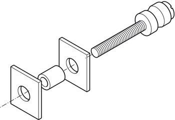 Mounting Set for Wood Door , Stainless Steel, Startec®, for Claudio Door Handle