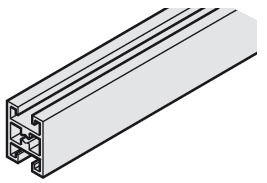 Mullion, For Front Separation, 26 x 35 (1 x 1 3/8)