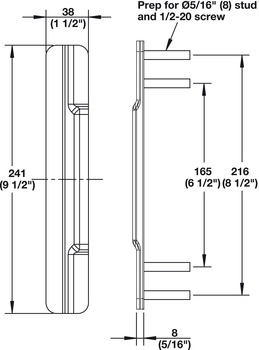 Narrow Astragal, PE101, for Metal and Wood Doors