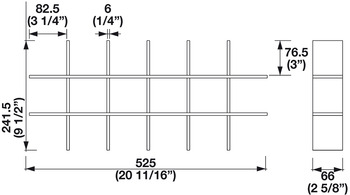 Optional Large Cross Divider, for LAVIDO Tuning Trays
