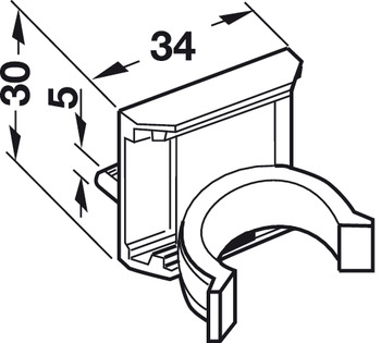 Panel Clip, for Base Cabinet Levelers