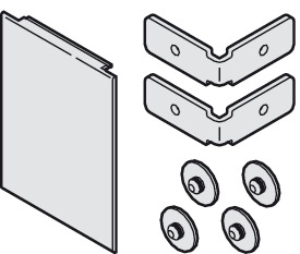 Panel end piece set, One-Sided