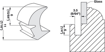Panel Retainer, Standard Profile