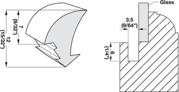 Panel Retainer, Thicker Profile
