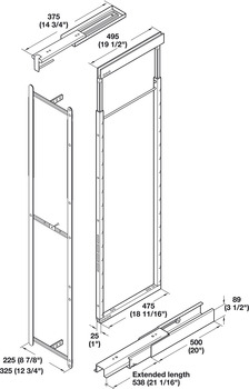 Pantry Frame, for Swing Pull-Out