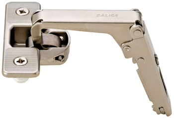 Pie-Cut Corner Hinge, Salice, 70° Opening Angle, Self Close, Nickel-Plated