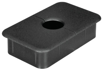 Plastic Cable Grommet, Two-Piece, Rectangular, 89 x 54mm