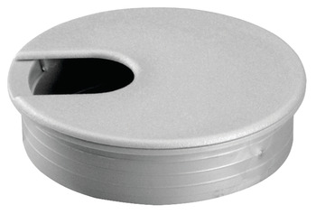 Plastic Cable Grommet, Two-Piece, Round, 90° Rotating Top