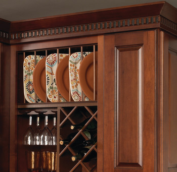 Plate Rack, Wooden Cabinet Accessory