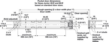 Pocket Door Framing Kit, Futura
