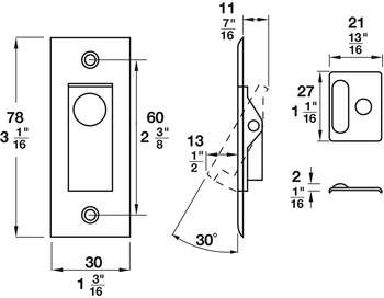 Pocket Door Jamb Bolt Lock