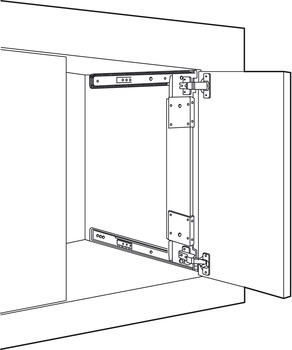 Pocket Door System Accuride 123 35 Mm Hinges Included In The