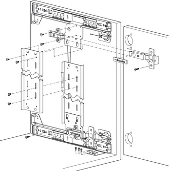 Pocket Door System Accuride 1332 With 35 Mm Hinge Kit In The Hafele America Shop