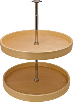 Pole Mounted Revolving Shelf, Full Circle, Two-Shelf