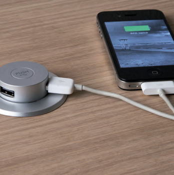 Pop-Up USB Charging Center, 2 Charging Ports