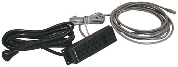 Power Bar, 3 Outlets, 2 Data Modules