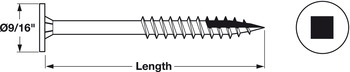 PowerHead Screws, for Wood, #2 Square Drive
