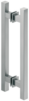 Pull Handles, Aluminum, two-sided, square