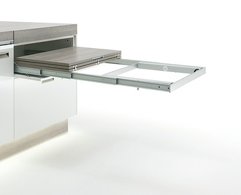 Pull-out Table Fitting, with Folding Leg