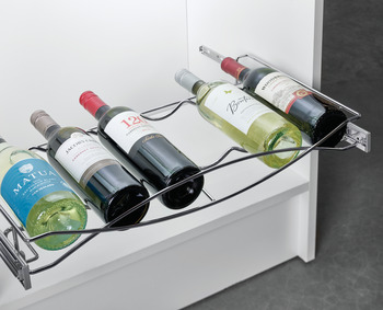 Pull-out Wine Tray, with Full Extension Slides