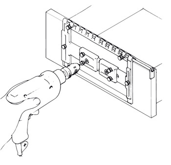 Quick-Set Drilling Jig, for Handles