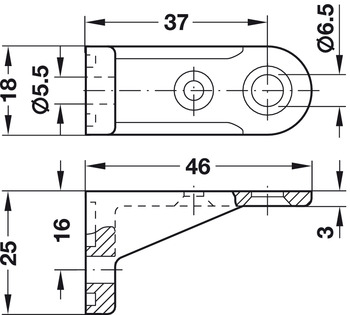 Rear Panel Connector, for Screw Fixing to Rear Panel