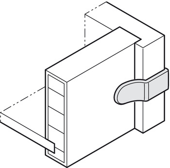 Rear Panel Connector, Häfele Ixconnect RPC D 5/24, for wooden drawers