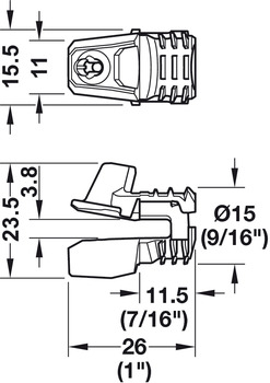Rear Panel Connector, Ixconnect RPC S 15/25