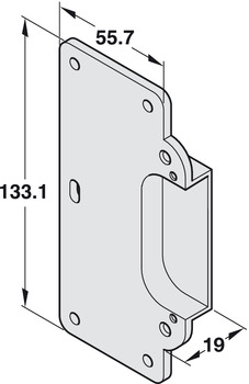 Receiving Element, for H2/H7 Door Hinge
