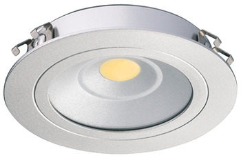 Recess/Surface Mounted Down Light, Monochrome, Round, Loox LED 3010, 24 V