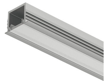 Recessed Aluminum Profile, Häfele Loox5 Profile 1103, for LED strip lights