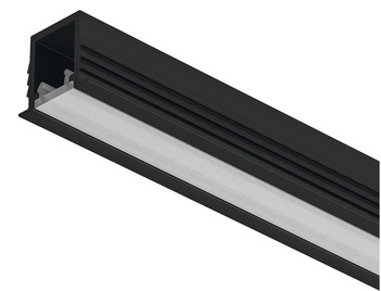 Recessed Aluminum Profile, Häfele Loox5 Profile 1104, for LED strip lights