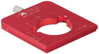 Red Jig, Drill Guide for 35mm Concealed Hinge