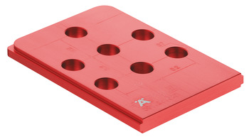 Red Jig, Häfele Red Jig, for connectors and series drilled holes