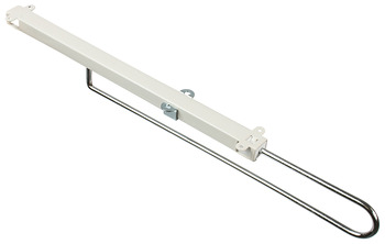 Retractable Wardrobe Rail, Steel Runner