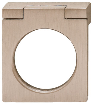 Ring Handle, Brushed Nickel, Brass