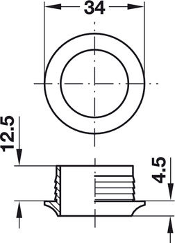 Rosette, Round, for Plate Thickness 16 mm