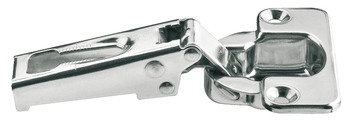 S-Series Concealed Hinge, Stainless Steel, Opening Angle 100°, Half Overlay