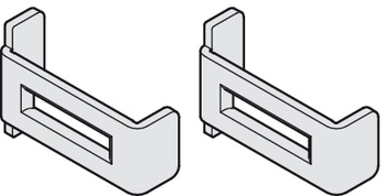 Safety clip set, For wooden and aluminum panels, prevents the track from being bent apart