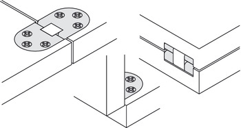 Self-Supporting Hinge, for Folding and Sewing Machine Tables
