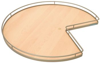 Shelf Mounted Revolving Shelf, 3/4 Round Pie-Cut