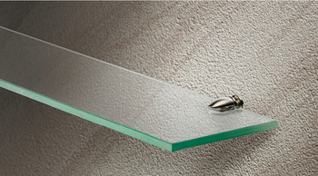Shelf Support with Set Screw, for 5 - 7 mm Glass Thickness