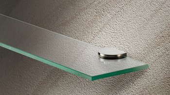 Shelf Support with Set Screw, For 6 - 8mm Glass Thickness