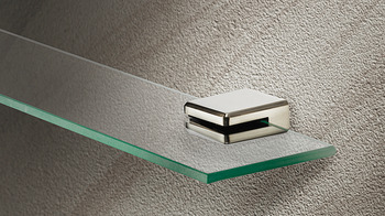 Shelf Support with Set Screw, For 8mm Glass Thickness