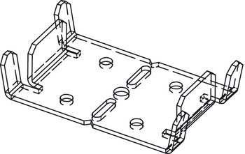 Shoe Plate for Front/Back Vertical Studs, Components for Slido Pocket Door