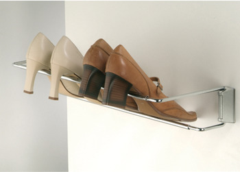 Shoe Rack, for Mounting to Wall or Wall Rail